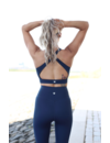 CROSS BACK SPORTS BRA - NAVY BLUE