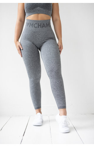 Gymchamp sportswear RIBBED SEAMLESS LEGGING - CHARCOAL
