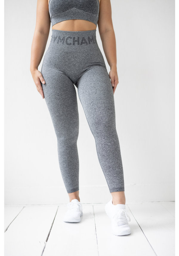 RIBBED SEAMLESS LEGGING - CHARCOAL
