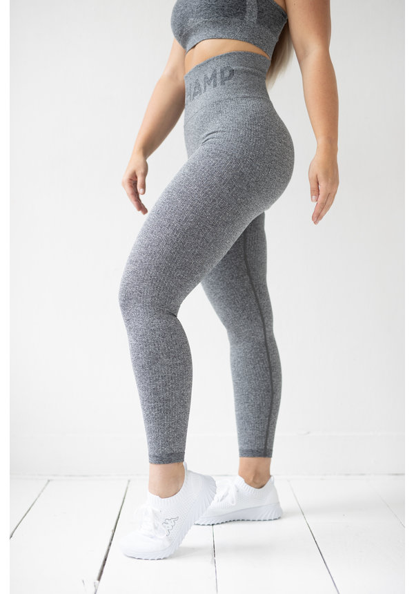 PRE ORDER - RIBBED SEAMLESS LEGGING - CHARCOAL