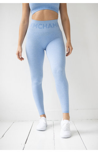 Gymchamp sportswear RIBBED SEAMLESS LEGGING - SKY BLUE