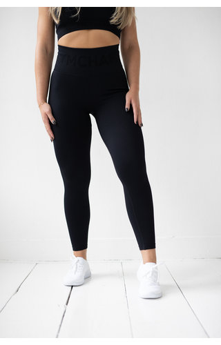 Gymchamp sportswear RIBBED SEAMLESS LEGGING - BLACK