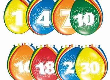 Ballonnen Cijfers Latex