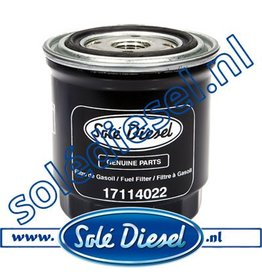 17114022 | Solédiesel | parts number | Fuel filter