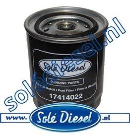 17414022 | Solédiesel onderdeel | Brandstof filter