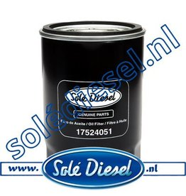 17524051| Solédiesel | parts number | Oil filter