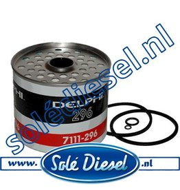 HDF296 | Delphi 7111-296 | Brandstof filter