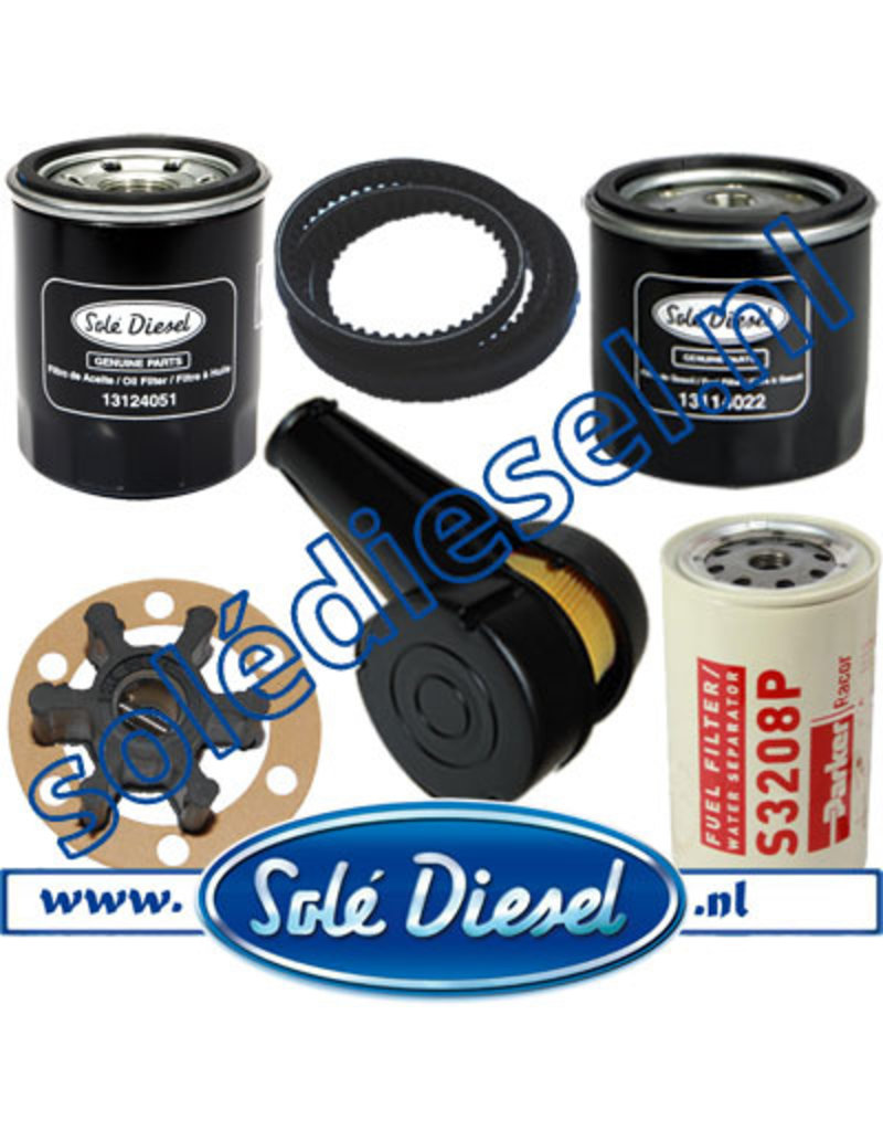 Extensive maintenance service kit with Racor S3208P filter