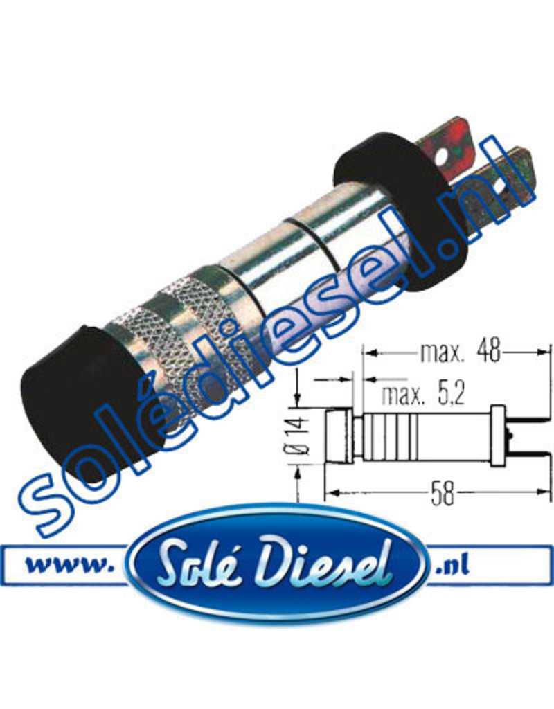 2AA003257001 | onderdeel | Controlelamp  Ø 10,5mm  Rood