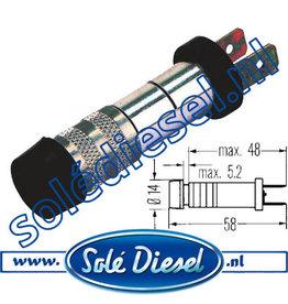 2AA003257011 | onderdeel | Controlelamp  Ø 10,5mm  Blauw