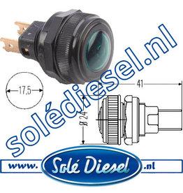 2AA001200141 | onderdeel | Controlelamp  Ø 17,5mm  Groen
