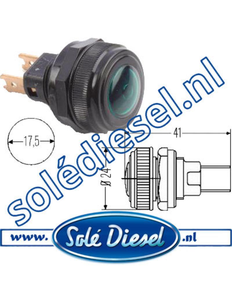 2AA001200141|  parts number |  Warning lamp  Ø 17,5mm  Green
