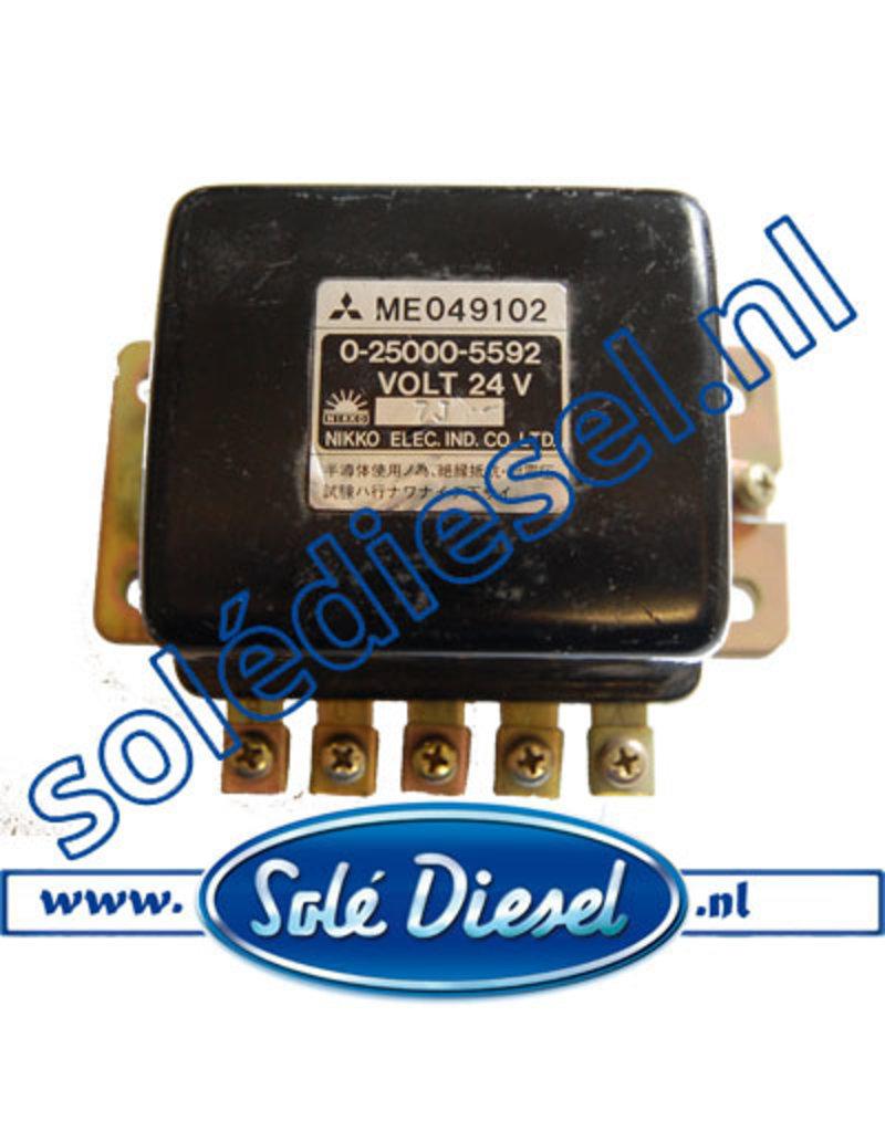 ME049102 | onderdeel | Mitsubishi relais starter 24V