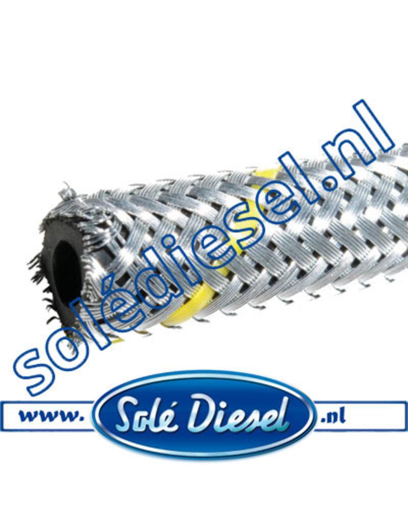 Ø6mm  Teilenummer   Gummi Kraftstoffschlauch mit Stahlgeflecht