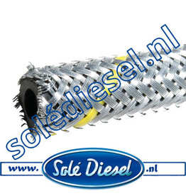 Ø4mm|  parts number |  Rubber fuel hose with steel braid