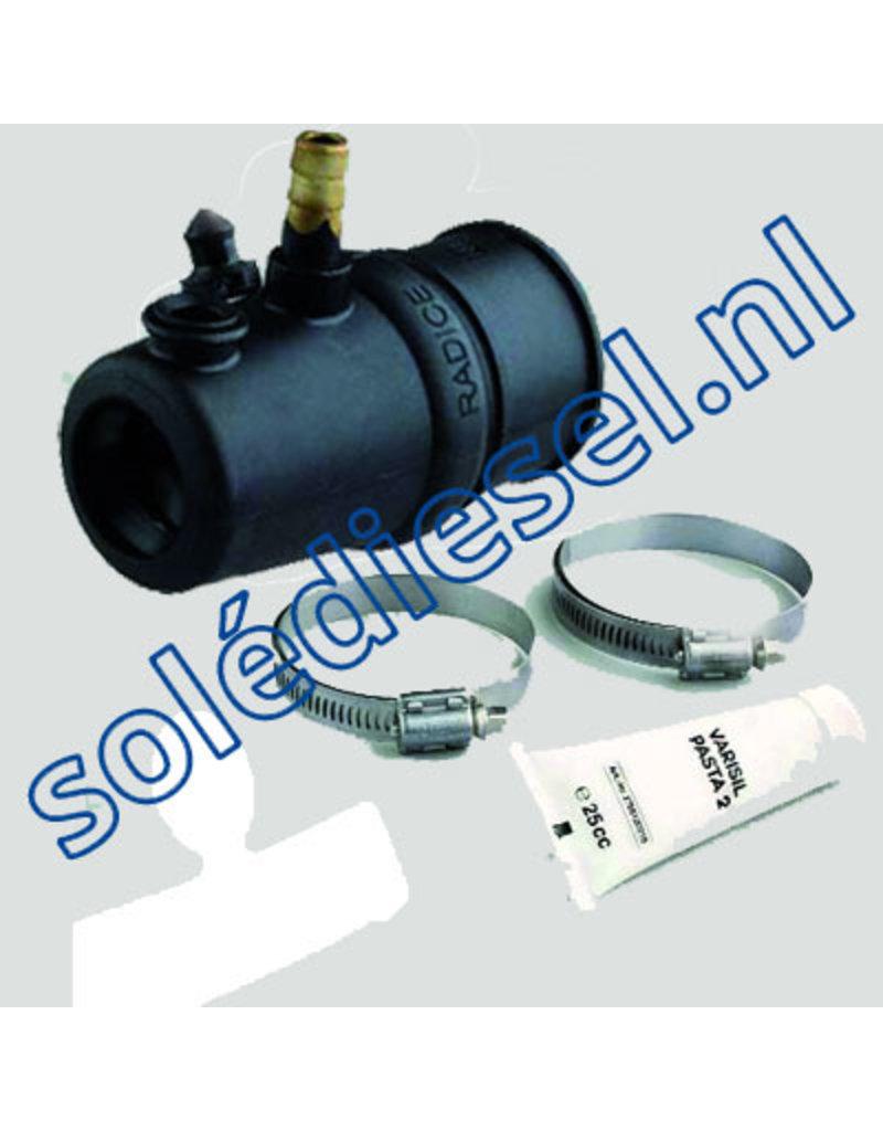 463425  | onderdeel | Zwevend rubber binnenlager met waterinlaat, Ø25mm & koker Ø39mm