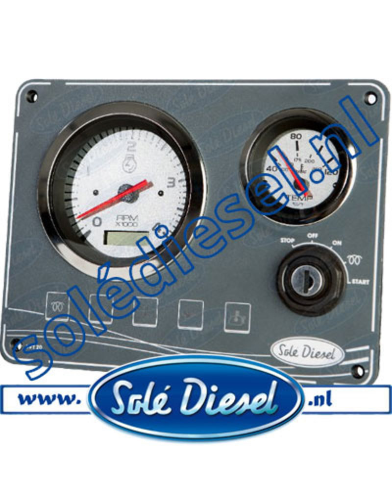 60910001 | Solédiesel |Teilenummer |Instrumententafel SVT -20 panel 12V
