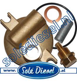 13811042- kit     Solédiesel  Teilenummer   Wärmetauscher Anode kit