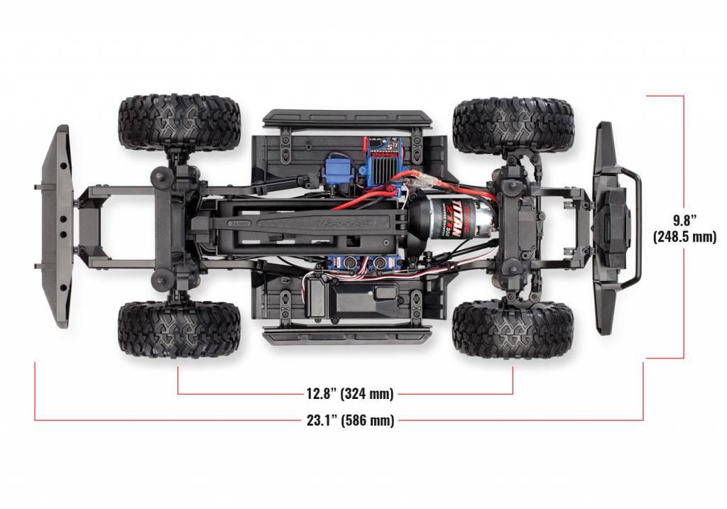 Traxxas Land Rover Defender Crawler Silver TRX82056-4S-4