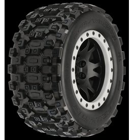 Proline Badlands MX43 Pro-Loc All Terrain Tires (2) Mounted on Impul, PR10131-13