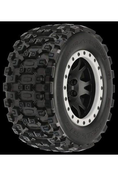 Badlands MX43 Pro-Loc All Terrain Tires (2) Mounted on Impul, PR10131-13