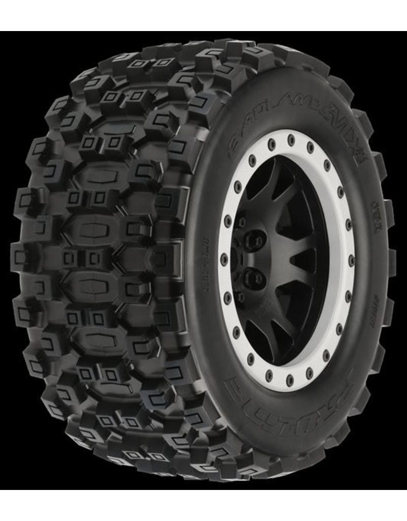 Proline Badlands MX43 Pro-Loc All Terrain Tires (2) Mounted on Impul, PR10131-13
