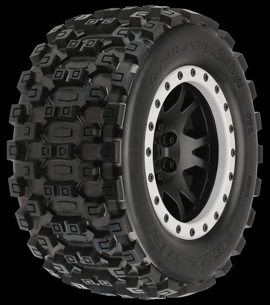 Badlands MX43 Pro-Loc All Terrain Tires (2) Mounted on Impul, PR10131-13-1
