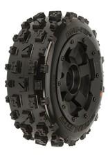 Proline Bow-Tie Off-Road Tires Mounted on Black Desperado Front Whee, PR1150-13