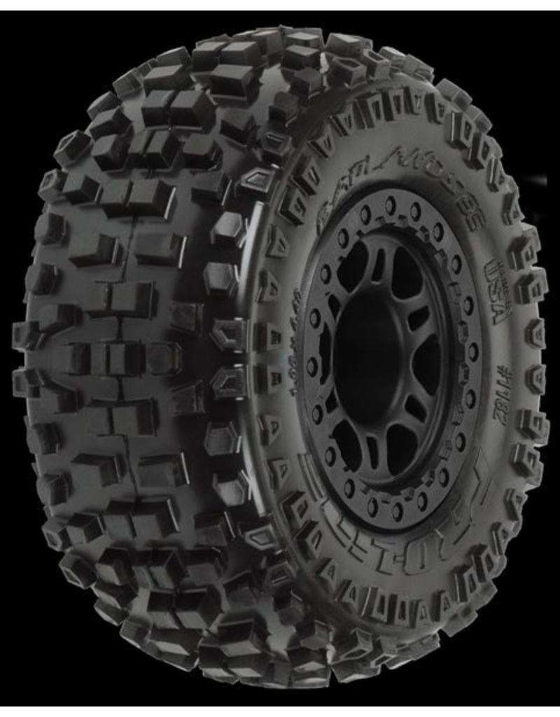 Proline Badlands SC 2.2/3.0 M2 (Medium) Tires Mounted on Split Six B, PR1182-21