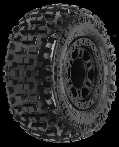 Badlands SC 2.2/3.0 M2 (Medium) Tires Mounted on Split Six B, PR1182-21-1
