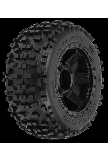 "Badlands 3.8 (Traxxas"" Style Bead) All Terrain Tires Moun, PR1178-11"