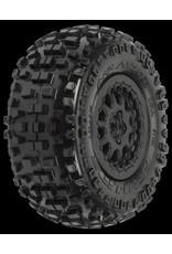 Proline Badlands SC 2.2/3.0 M2 (Medium) Tires (2) Mounted on ProTrac