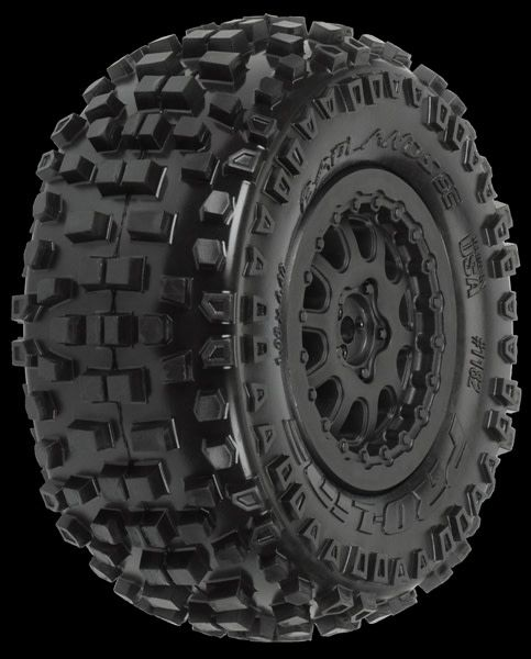 Badlands SC 2.2/3.0 M2 (Medium) Tires (2) Mounted on ProTrac-1