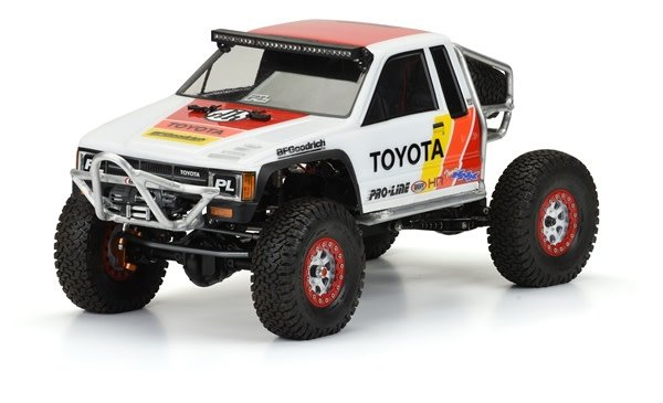 1985 Toyota HiLux SR5 Clear Body (Cab Only) for SCX10 Trail-1