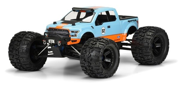 2017 Ford F-150 Raptor Clear Body for 1:8 MT-1