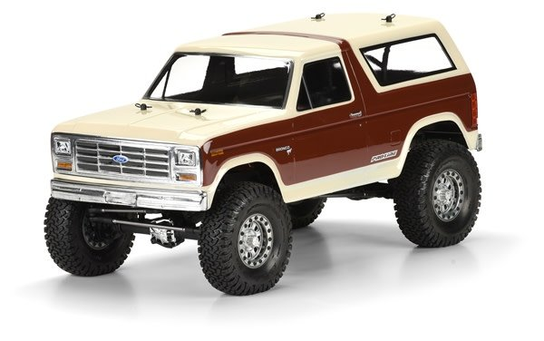 1981 Ford Bronco Clear Body for 12.3 (313mm) Wheelbase Scale-1