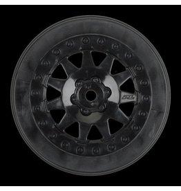 Proline F-11 2.2/3.0 Black Wheels      (2) for SCTE 4x4, SC10RS 2wd,