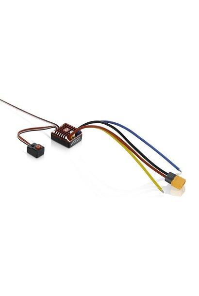 Hobbywing QuicRun 1080 WP-Crawler-Brushed ESC, 80A incl LED program box