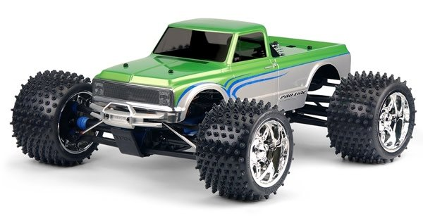 1972 Chevy C-10 Long Bed Clear Body for 1:8 MT-1