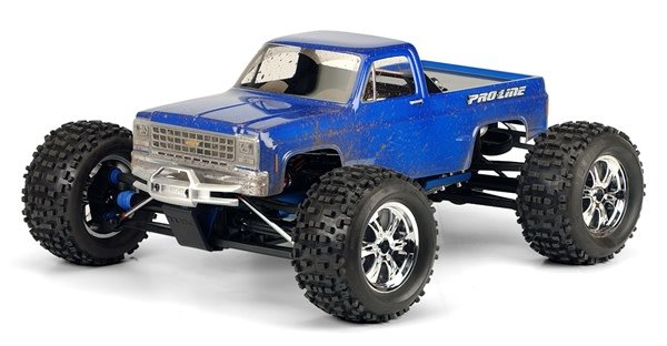 1980 Chevy Pick-up Clear Body for 1:8 MT-1