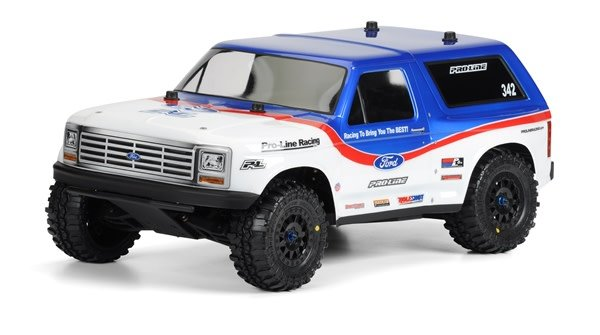 1981 Ford Bronco Clear Body for SC-1