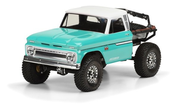 1966 Chevrolet C-10? Clear Body (Cab Only) for SCX10 Trail H-1