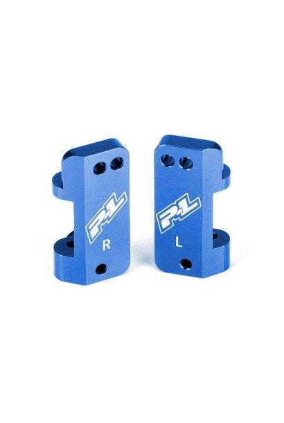 Blue Aluminum Front Caster Blocks for PRO-2 and Slash 2WD
