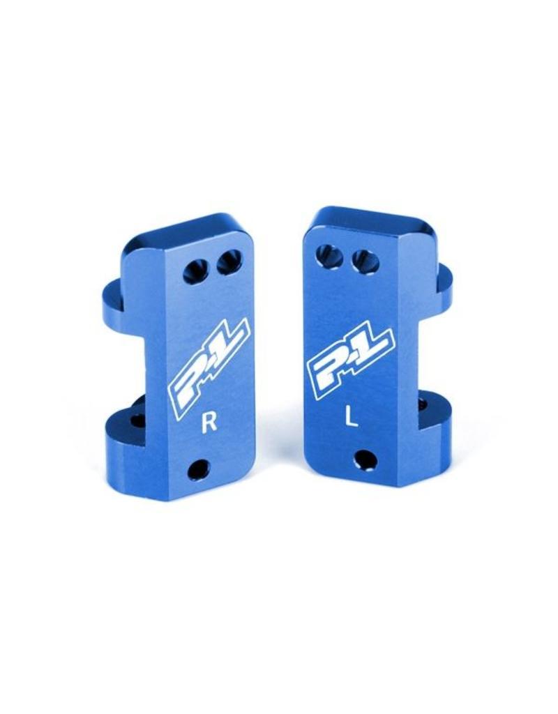 Proline Blue Aluminum Front Caster Blocks for PRO-2 and Slash 2WD