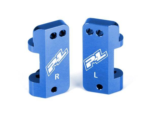 Blue Aluminum Front Caster Blocks for PRO-2 and Slash 2WD-1