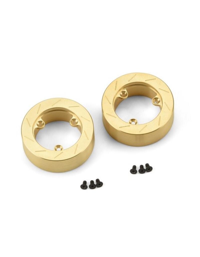Proline Brass Brake Rotor Weights (2) for 6 Lug 12mm Hex Adapter (62, PR6292-01