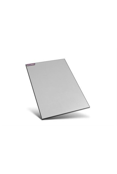 FLAT SET-UP BOARD FOR 1/10 TOURING CARS - SILVER GREY