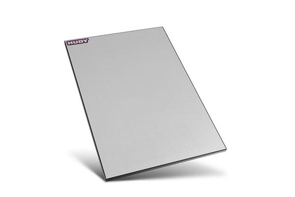 FLAT SET-UP BOARD FOR 1/10 TOURING CARS - SILVER GREY-1