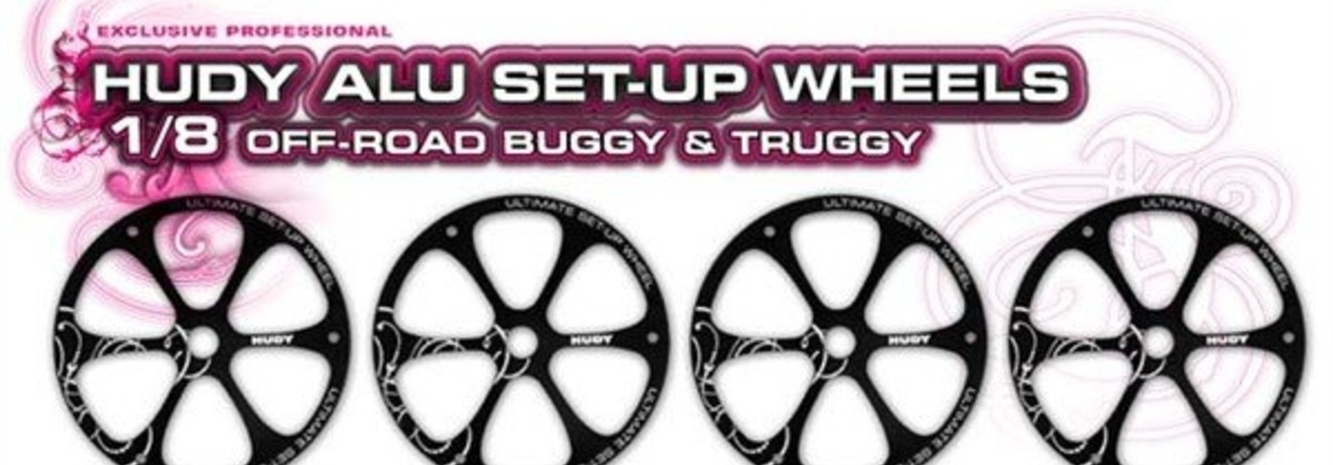 Alu Set-Up Wheel For 1/8 Off-Road (4), H108870