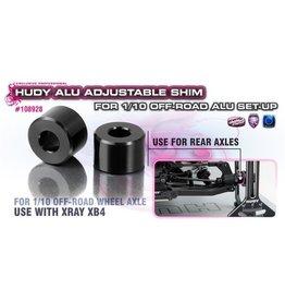 Hudy ALU ADJ. SHIM FOR 1/10 OFF-ROAD ALU SET-UP - XRAY XB4 (2), H108928